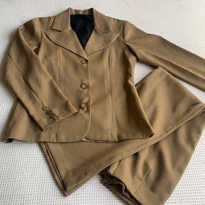 Gorgeous retro two piece blazer/ flare pant set pants 28 waist